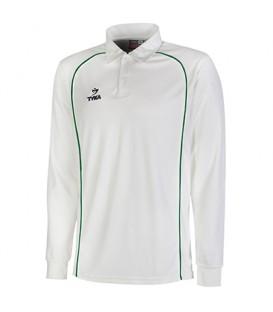 Club Shirt Long Sleeves - Green Piping